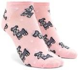 Forever 21 FOREVER 21+ Schnauzer Print Ankle Socks