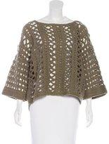 Elizabeth and James Wool-Blend Open Knit Sweater