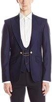 Vivienne Westwood Men's Zig-Zag Suiting Waistcoat Jacket