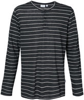 Onia Miles striped henley T-shirt - men - Linen/Flax/Polyester - S