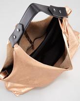 Vince Camuto Kalay Metallic Leather Hobo Bag, Gold/Caviar