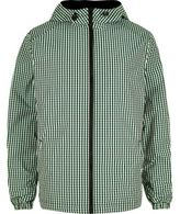 River Island Mens Green checked hoodie