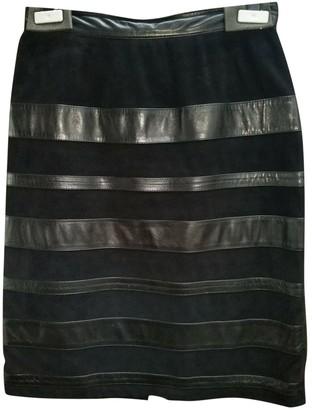 Christian Dior Black Leather Skirt for Women Vintage
