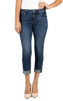 KUT from the Kloth Amy Raw Hem Crop Straight Leg Jeans