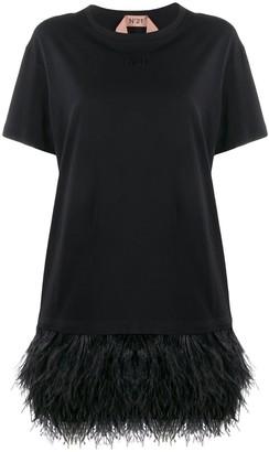 No.21 Feather Hem Short Dress