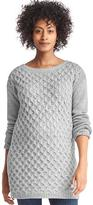 Gap Maternity honeycomb cable sweater tunic