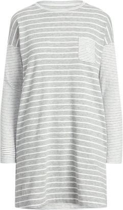 Ralph Lauren Mixed-Stripe Long-Sleeve Sleep Shirt