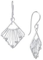 Sterling Silver Open Beaded Drop Earrings - Silver