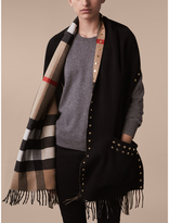 Burberry Check Cashmere and Merino Wool Stole