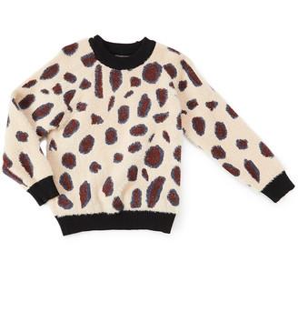 Royal Gem Girls' Pullover Sweaters Tan - Tan Cheetah Long-Sleeve Sweater - Infant & Toddler