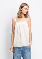 Vince Embroidered Silk Cami