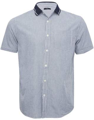 M&Co Polo collar striped short sleeve shirt