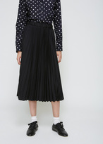 Comme des Garcons Black Pleated Skirt