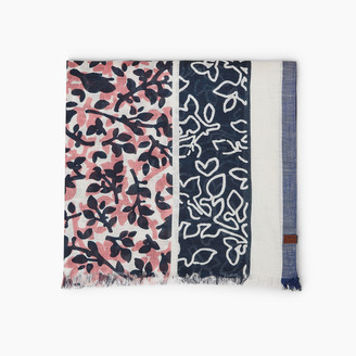 Roots Foliage Border Print Scarf