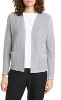 Eileen Fisher Ribbed Organic Linen & Cotton Cardigan