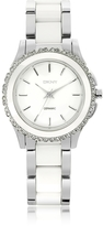 DKNY Westside White Ceramic and Silver Stainless Steel Women's Watch