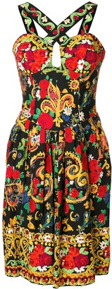 Christian Lacroix Pre-Owned 1980's lace-up patterned dress