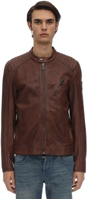 Belstaff V-racer 2.0 Tumbled Leather Jacket