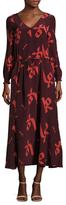 Lemlem Adia Silk Printed Drawstring Maxi Dress