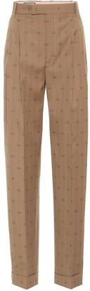 Gucci GG striped wool and silk pants