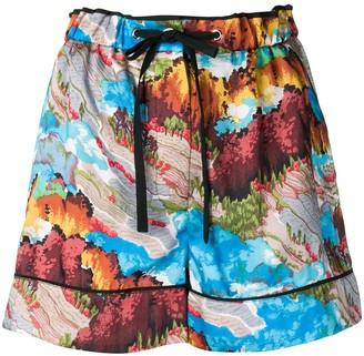 Victoria Victoria Beckham Patterned Shorts