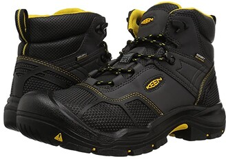 Keen Logandale Waterproof Steel Toe (Raven/Black) Men's Work Boots