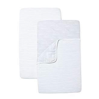 Shnuggle Crib Sheet Blanket Set, Grey