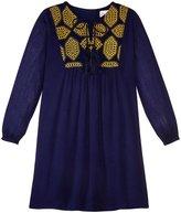 Masala Talia Dress (Toddler/Kid) - Navy - 4 Years