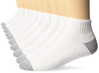Amazon Essentials Men's 10-Pack Cotton Half Cushioned Ankle Socks