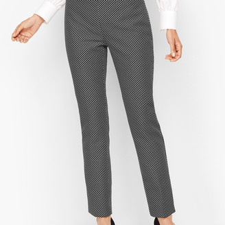 Talbots Shimmering Jacquard Tailored Ankle Pants