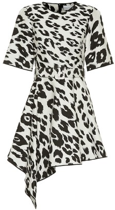 Oscar de la Renta Leopard-print cotton and silk dress