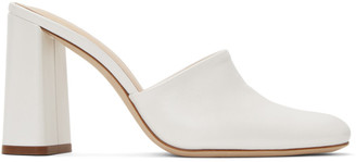 BY FAR White Nina Mules