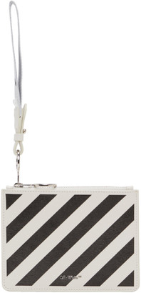 Off-White White Two-Compartment Diagonal Pouch