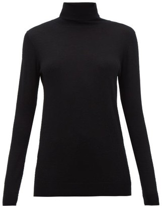 Raey Roll-neck Fine-knit Cashmere Sweater - Womens - Black