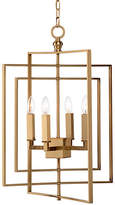 Chelsea House Small Cube Chandelier - Antiqued Brass