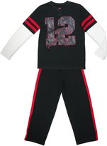 Hanes Boys' Football Jersey Pajama Set