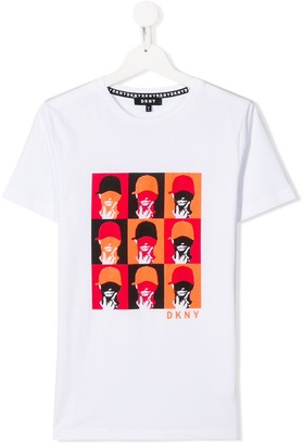 DKNY Warhol-style graphic print T-shirt