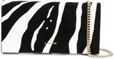 Lanvin zebra pattern clutch - women - Calf Leather - One Size