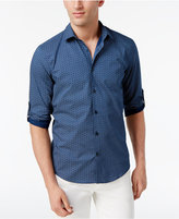 Alfani Men's Jenkins Geometric-Print Cotton Shirt, Only at Macy's