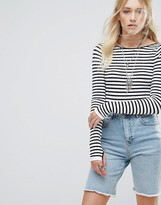 Free People Gotta Be Striped Long Sleeved Bodysuit