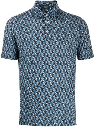 Zanone Geometric Polo Shirt