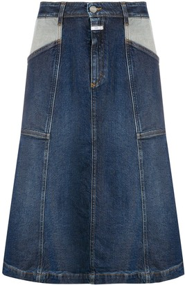 Closed Knee-Length Denim Skirt