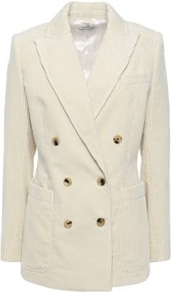 Bella Freud Bianca Double-breasted Cotton-corduroy Blazer