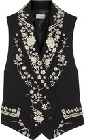 Temperley London Lettie Tuva embroidered crepe vest