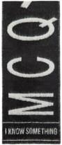 McQ Black Brushed Logo Scarf