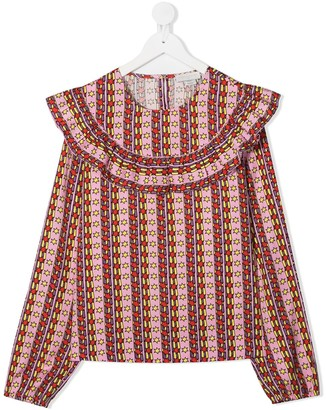 Stella McCartney Kids TEEN Rising Stars print blouse