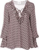 Dondup printed flared blouse