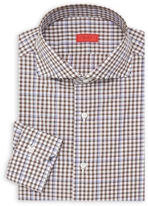 Isaia Slim-Fit Check Seasonal Dress Shirt