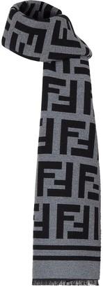 Fendi FF print frayed scarf
