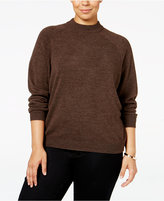 Karen Scott Plus Size Luxsoft Mock-Neck Sweater, Only at Macy's